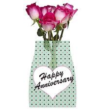 Happy Anniversary Reva Reusable Vase w/ Card ~ Birthday Party Supplies Decor