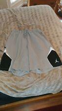 Jordan Dry Fit Shorts Gray Black White Rare 3XL XXXL