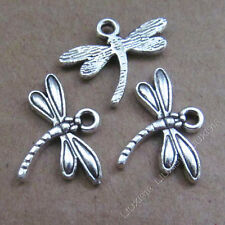 20pc Tibetan Silver Charms Dragonfly Animal Pendant Jewellery Accessories FD553