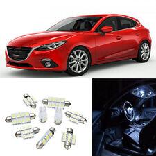 9Pcs White Car Interior LED Light Lamp Bulbs Package Kit For Mazda 3 2014-2015