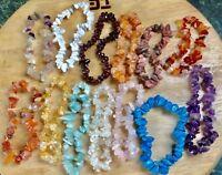 Crystal Chip Healing Bracelets - Series 1 - 21 varieties