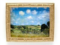 Dolls House Miniature 1/12th Scale 'Sisley' Landscape Painting Picture MA144