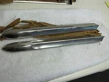 1946-48 Buick Front Fender Trim Spear, Pr. W/Mt. Clips NOS