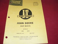 John Deere 435D 4401D Tractor I&T Shop Manual