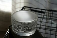 Lalique Crystal Covered Box~Canards~Swans~Ducks~Birds~Signed~Authentic~Mint