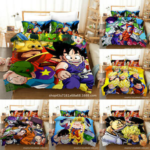 Dragon Ball Z 3PCS Bedding Set Duvet Cover Pillowcase Quilt/Comforter Cover