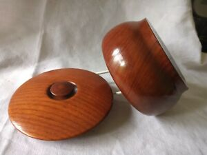 Vintage Small Wooden Hand Turned Bowl with Lid