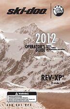 """Ski-Doo owners manual 2012 REV-XP 2-STROKE L/C Summit X 154"""" Track"""