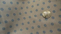 """Vintage Cotton Blend Lightweight Fabric SMALL BLUE FLORAL/WHITE 1 Yd/44"""" Wide"""