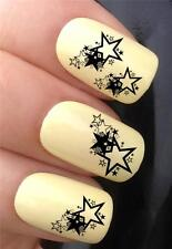 WATER NAIL TRANSFERS STACKED MINI STARS BURST NAIL ART DECALS STICKERS *342