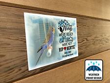All weather memorial plaque, Bench plaque, Various sizes, Pet bird remembrance.