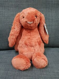Kids Soft Toy - Jellycat Bashful Cinnamon Bunny Medium- Kids Birthday Present!