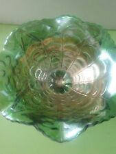 iMPERIAL DIAMOND FLOWER GREEN CANDY BOWL