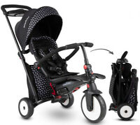 SmarTrike STR5 Kids 7 in 1 Compact Folding Stroller Trike Black White 9-36 M New