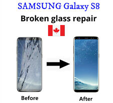 Samsung Galaxy S8 Cracked Glass ONLY/Working LCD mail-in Repair Service