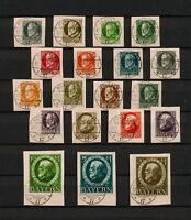 (YYAU 559) Bayern 1920 IMPERF Mich 94 IIB - 109 IIB, 110B - 115B Bavaria Germany