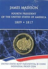 2007 S US Mint JAMES MADISON Presidential Dollar PROOF Individually Packaged