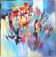 """peinture Jadis """"village d'Eurgal"""" tableau"""