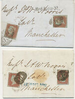 "GB ""Red Lion-St."" in BLACK and BLUE (HOLBORN, LONDON WC) two VF LATE FEE cover"