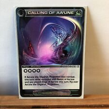 Chaotic Card - Super Rare - Calling Of Aa'une *I Combine Shipping*