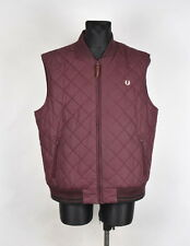 Fred Perry Men Quilted Vest Jacket Size 2XL, Genuine