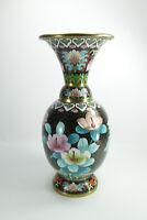 Große prachtvolle Cloisonnè Zellenschmelz Vase ca.31cm