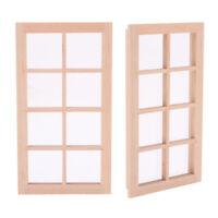 2x 1/12 Dollhouse Miniature Unpainted Door Window Frame Furniture DIY Accessory