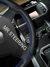 Per FIAT 500l 2012+ Vera Copertura Volante in Pelle Blu Royal doppia cucitura