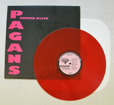 PAGANS buried alive LP Punk 1986 TR002 Treehouse Rec. TRANSLUCENT RED VINYL