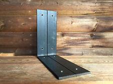 Metal Shelf Brackets 225mm Scaffold Board Industrial Steel Shelving (Set of 2)