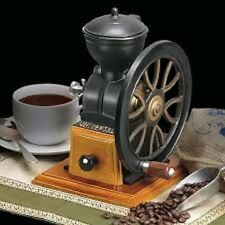 Manual Coffee Grinder Vintage Wood Hand Wheel Cast Iron Bean Drawer New Top Gift