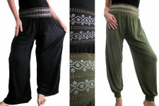 Other Casual Trousers Flower Regular Size Trousers for Women