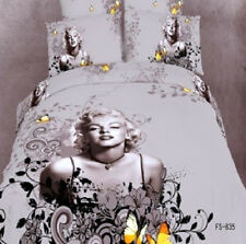 Marilyn Monroe -Quilt Cover Set brown double size