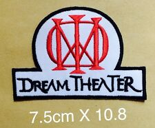 #1000 DREAM THEATER BAND HEAVY METAL LOGO MUSIC  EMBROIDERY IRON ON PATCH BADGE