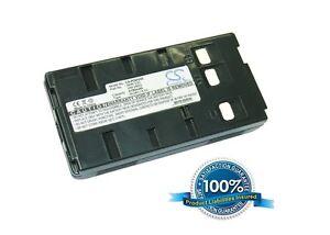 6.0V battery for JVC GR-AXM11, GR-AX437, GR-AXM20U, GR-AXM500, GR-AX900U, GR-SX1