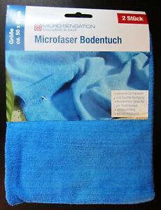 10x Microfaser Bodentuch 280g/m² blau 50 x 60cm Universal Tücher