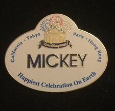 Disney Cast Member Happiest Celebration Earth NameTag Name Badge Pin Retired