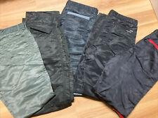 Vintage Parachute Pant lot 5 pair 32, 34, 36 80s nylon Bugle Boy Euc