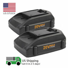 2pack 2.0Ah 20V MAX for WORX WA3525 WA3520 WA3847 WA3732 WG151s Lithium Battery