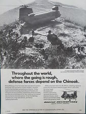 9/1974 PUB BOEING HELICOPTER CHINOOK CH-47C VIETNAM CANADA ARMED FORCES AD
