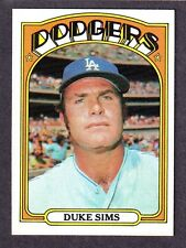 1972 TOPPS #63  Duke Sims  LOS ANGELES DODGERS  EX-MINT+   A