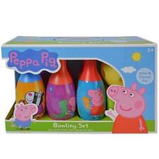 Peppa Pig Bowling Set Toy Game Boys Kids Birthday Gift Toy 6 Pins &1 Ball