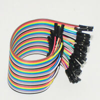 40pcs 30cm Dupont Jumper Wire Ribbon GPIO Cable Connector For Arduino Breadboard