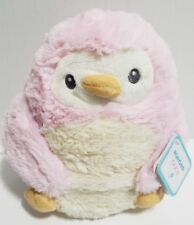 """Aurora Baby Pink Penguin Plush With Pouch 8"""" NEW with Tags Lovey Plushy Soft"""