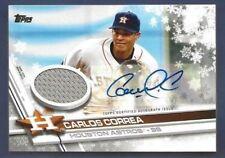 2017 Topps Carlos Correa Auto Patch # 1/3 Jersey # Walmart Holiday Mega Baseball