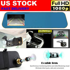 1080P Dash Cam Car Rear View Mirror DVR Parking Vehicle Camera Recorder Dual Len