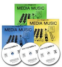 3 CDs - MEDIA MUSIC - GEMAFREIE MUSIK AKM SUISA FREI VERTONUNG HINTERGRUNDMUSIK
