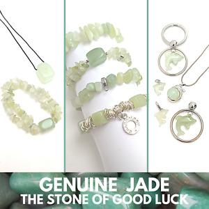 JADE Wholesale Pack of GENUINE Gemstone Jewellery Bracelets Pendants Charms NEW