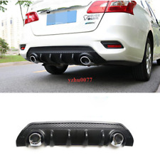 2016-2019 For Nissan Sentra ABS Black Rear Bumper Spoiler Protector Plate Trim*1