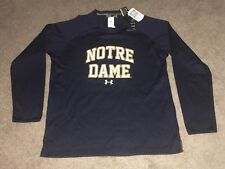 Men's X-Large Norte Dame FIGHTING IRISH Under Armour Pull Over Shirt NWT